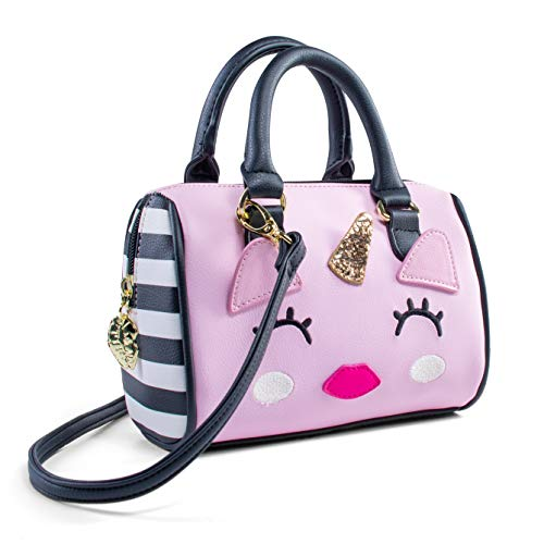 Luv Betsey Johnson Harlee Kitsch Unicorn Mini Crossbody Satchel Bag - Pink