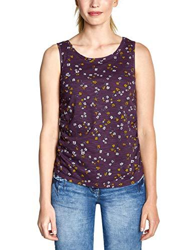 CECIL Damen 313736 Top, Mehrfarbig (deep Berry 31438), Medium (Herstellergröße:M)