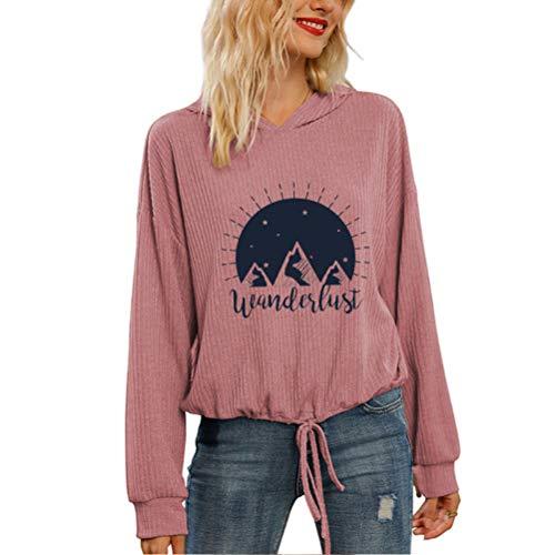 Pullover Bandera Americana de la Vendimia con Estilo de Manga Larga Coats Sudaderas Suave de Moda Outwear básica del Jersey impresión de la Letra la Camiseta Unisex Mujeres