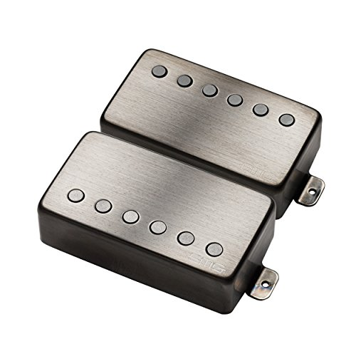 EMG JH James Hetfield Electric Guitar Pickup Set, Brushed Black Chrome
