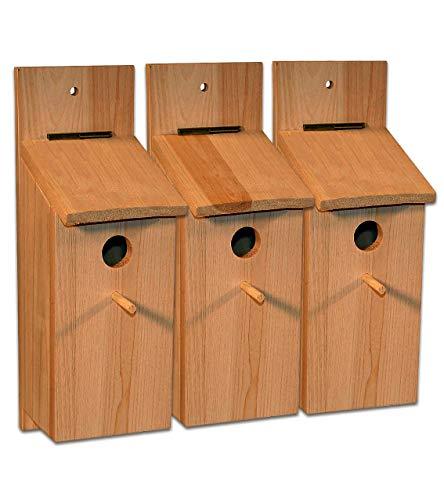 3x Nistkasten Selbstbauset Vogelhaus Vogelhäuschen Nisthaus Meisenhaus Kleinvögel Meisenkasten