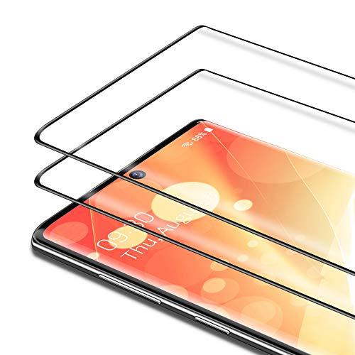 Bewahly Vetro Temperato Samsung Galaxy Note 10 Plus [2 Pezzi], 3D Curvo Copertura Completa Pellicola Protettiva in Vetro Temperato per Samsung Note 10 Plus [9H Durezza, Alta Definizione] - Nero
