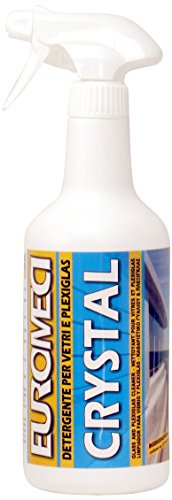 EUROMECI Crystal, Detergente per vetri e plexiglass, 750 ml
