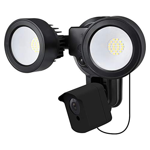 Wasserstein 4-in-1 Floodlight, Charger, Mount and Outdoor Case Compatible with Wyze Cam - Turn Your Wyze Cam into a Powerful Outdoor Floodlight (Black) (Wyze Cam NOT Included)