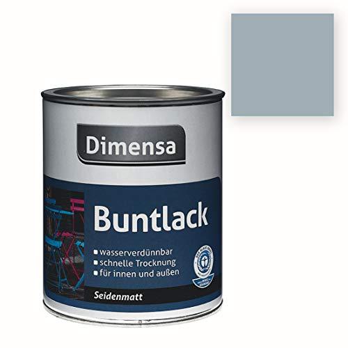Bricoflor - Acryl-Buntlack grau seidenmatt | Silbergrau RAL 7001-375 ml