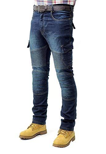 Prime Pantalones de Trabajo para Hombre BLJ-02 (BLACK-DENIM-005, 32W X 32L)