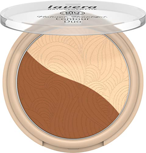lavera Natural Beautiful Contour Duo -Medium Gold 02- / Highlighter und Kontur in einem Produkt/Bio Inhaltsstoffe/vegan/zertifizierte Naturkosmetik/natürlich & innovativ / 1 Stück