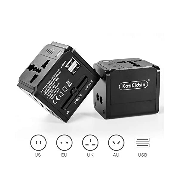 Koticidsin-Adaptateur-de-Voyage-Adaptateur-Universel-Prises-UKEUUSAU-Prises-de-Voyage-Internationale-Adaptateur-Chargeur-avec-2-Prise-lectrique-USB-pour-Plus-de-150-Pays-Noir
