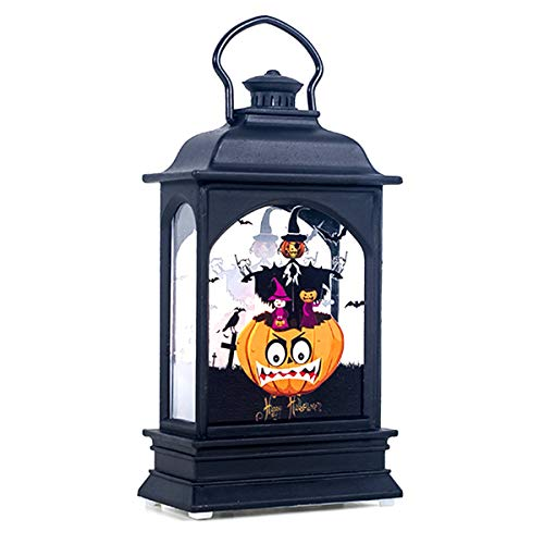 iFCOW Halloween LED Windlicht Halloween Transparent Wind LED Kerze Licht Hängende Ornament Bar Party Home Decor Gr. M, kürbis