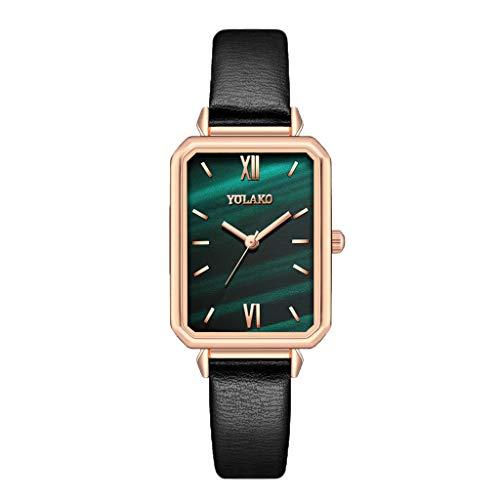 Relojes Para Mujer Damas Reloj rectangular Modelo de moda Pequeño Verde Ver Verde Mujer Reloj Femenino Relojes rectangulares Modelo de moda Pequeño Verde Relojes Decorativos Casuales Para Niñas Damas