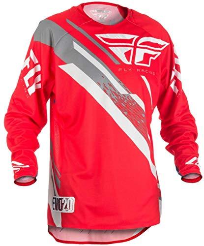 Fly Racing Evolution 2.0 MX / MTB Hemd, rot-grau-weiß, Größe: XXL, Motocross Jersey Mountainbike Trikot Downhill