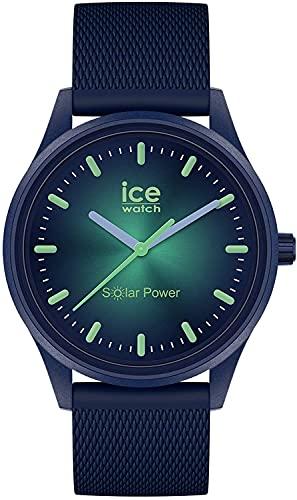 ICE-WATCH - ICE solar power Borealis - Blaue Herren/Unisexuhr mit Silikonarmband - 019032 (Medium)