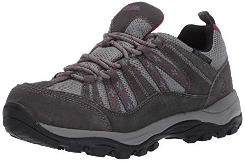 Northside Women's Hillcrest Waterproof Hiking Boot, Dark Gray/Wine, 7 Medium US