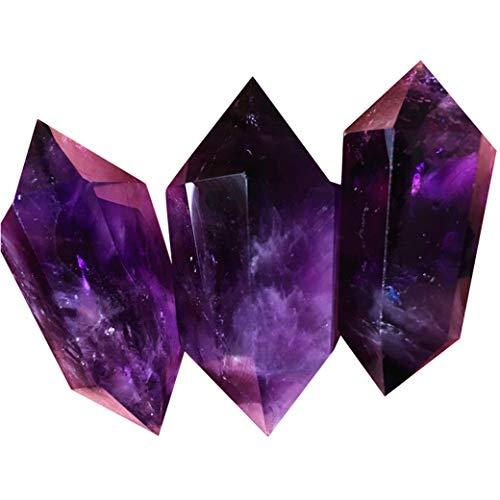Columna De Cristal Violeta Natural, Varitas Cristalinas Curativas, Varita Cristalina Clara del Cuarzo Y Puntos Cristalinos del Cuarzo De Rose Reiki Terapia De Meditación Chakra