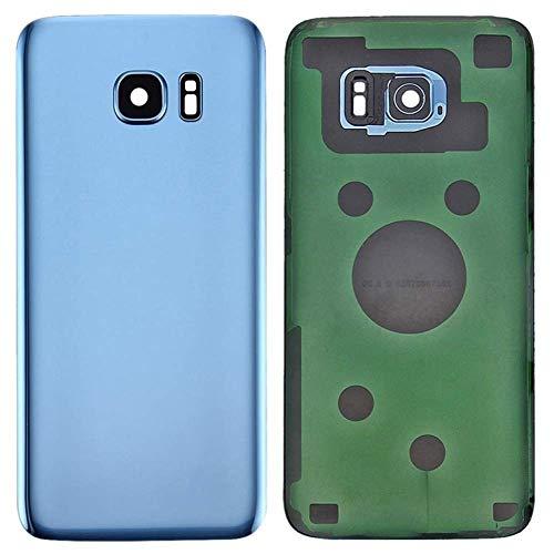 MovTEK Tapa Trasera de Cristal de Batería Trasero Original para Samsung Galaxy S7 Edge G935F con Lente de Cámara Azul