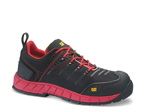 Caterpillar 17194 - Zapatos de Seguridad, Color Rojo, Talla 40