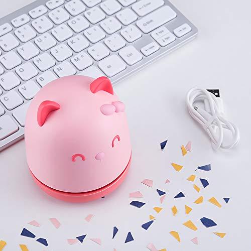 ZZWBOX Mini Aspirador inalámbrico USB para Teclado,Limpiador de teclados pc,Limpiador de Teclado,Mini Limpiador de Vacío para PC Teclado PC,para Limpieza de Polvo,Cabello,Migas,raspar