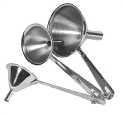Culinary Accessories Canning & Funnels 3-Piece Funnel Set (5,8 and 12 mm), Stainless Steel (a)