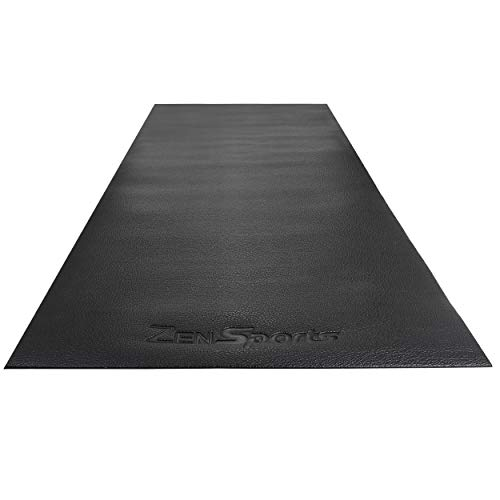 ZENY Treadmill Mat Gym Floor Mat High Density Fitness Equipment Mats,Extra Large Exercise Bike Mat,Jump Rope Mat,Elliptical Mat,Protective Flooring,8'x3',Black
