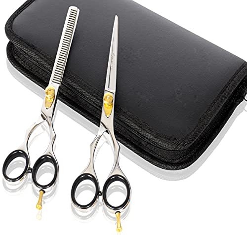 Set de regalo Tijeras De Peluquería y tijeras de entresacar Tijeras de peluquería 7Japón acero por Eurobeauty