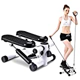 NN/AA Stepper Mini Adjustable Stepper Air Climber Step Fitness Exercise Machine with Resistance Band and LCD Display Steppers for Exercise Stair Stepper