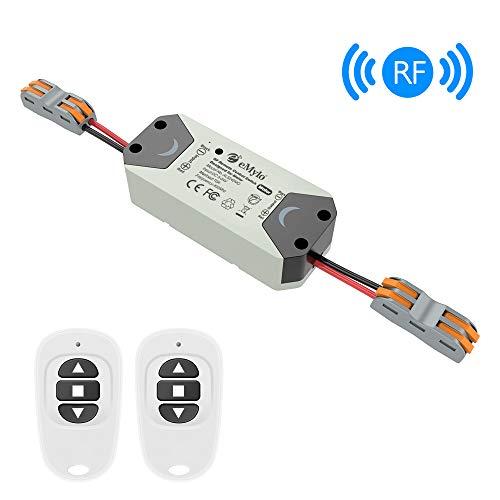 eMylo Smart Wireless RF Motor Controller Schalter RF Relaismodul DC 12V Motor Fernsteuerungsschalter 5V-24V 433Mhz Unterstützung Rolltor/elektrische Vorhänge/Wasserpumpe Steuermotor vorwärts/rückwärts