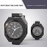 Ocamo,Motorrad-Lenker-Uhr,Thermometer für Auto