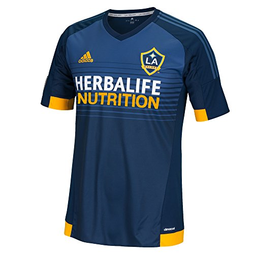 adidas Los Angeles Galaxy MLS Climalite Men's On-Field Replica S/S Jersey - Navy