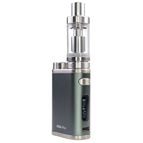 Eleaf Istick Pico 75w Starter Kit e Zigarette Box Mod and e Zigarette Verdampfer mit 2ml Tank (Grau)