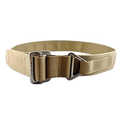 WOLF TACTICAL Heavy Duty Rigger's Belt - Stiffened 2-Ply Emergency Rescue Belt for Concealed Carry EDC Survival Wilderness Hunting CCW Combat Duty