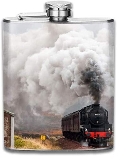 Lokomotive Eisenbahn Retro Tragbare 304 Edelstahl Auslaufsicher Whisky Schnaps Wein 7 UNZE Topf Flachmann Reise Camping Flagon für Mann Frau Glaskolben Großes Kleines Geschenk