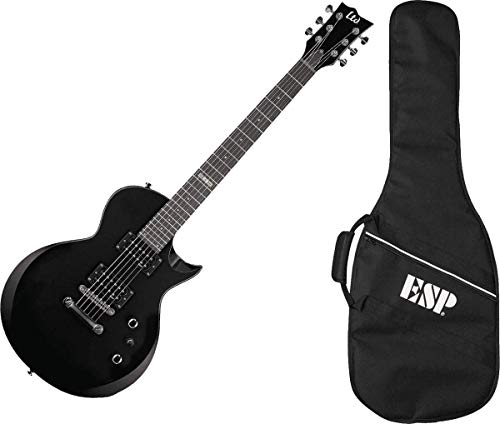 ESP LTD EC-10 KIT Electric Guitar with Gig Bag, Black
