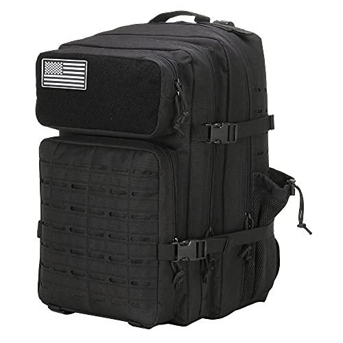 LHI Military Tactical Backpack For Men 45L Lage 3 Day Bug Out Bag Waterproof Travel Hiking Rucksack...