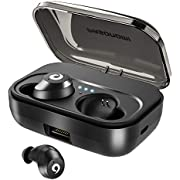 Bluetooth Kopfhörer In-Ear Ohrhörer Kabellos V5.0 IPX7 Wasserdicht Bluetooth Earbuds Wireles Earphones Headphones Bluetooth-Headsets für Handys mit 2200mAh Portable Ladekästchen