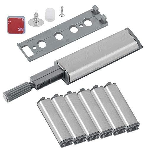 Puerta Armario Presion Magnetica Push Open Pestillo,Amortiguador para Puertas de Armario Cocina,System Damper Buffer para Mueble Puerta (6 piezas)