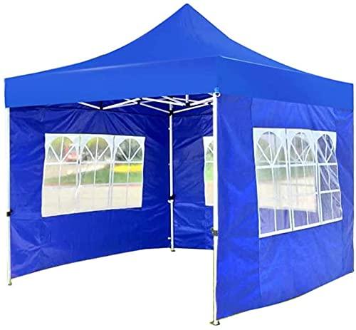 Equipo de campamento Carpa de campamento liviana 3X3M Gazebo de jardín emergente Refugios para eventos plegables Carpa Toldos comerciales instantáneos con paredes laterales Ventana y bolsa de trans
