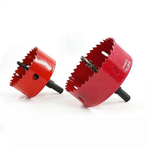 Senrise - Abreagujeros M42, bimetálico, de 15 a 200 mm, brocas dentadas perforadoras para hacer agujeros en hierro, aluminio, tuberías, plástico, acero inoxidable, metal, madera, rojo
