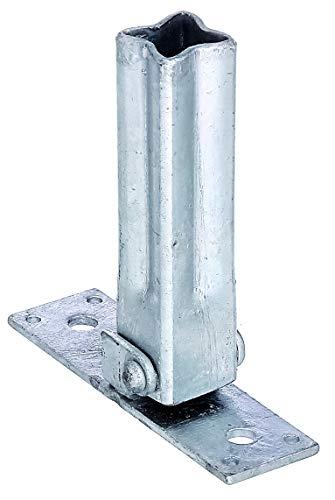 GAH-Alberts 701512 Handlaufstütze für Universalpfosten | verstellbar von: 45 - 90° | feuerverzinkt | Breite 104 mm | Tiefe 30 mm