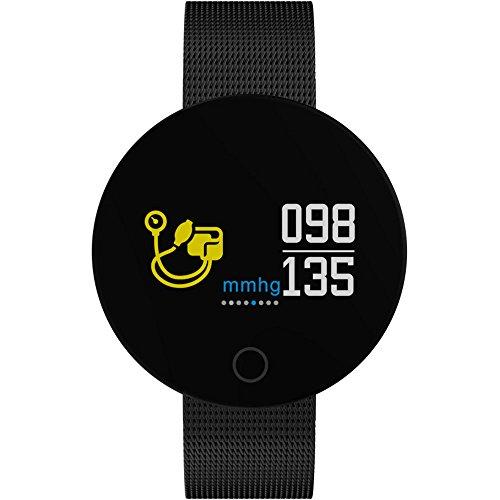 Haihuic Smartwatch Herzfrequenz-Blutdruckmessgerät, Kalorien Zähler Schrittzähler IP67 imprägniern Fitness Tracker für iPhone X Android Phone