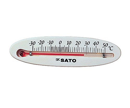 佐藤計量器製作所0-6041-01冷蔵庫用温度計ミニ横型108×30×8mm【1個】(as1-0-6041-01)