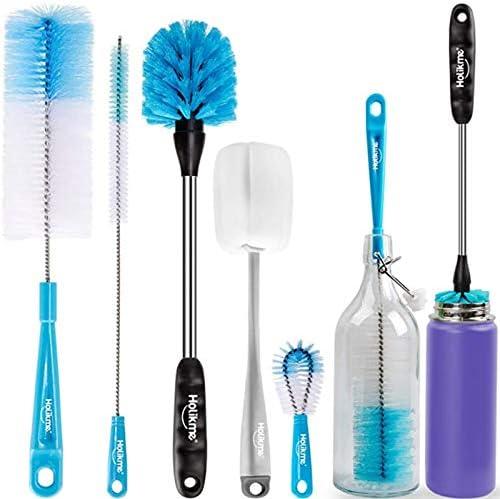 Holikme 5 Pack Bottle Brush Cleaning Set Long Handle Bottle Cleaner for Washing Narrow Neck product image