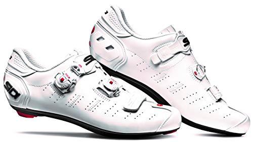SIDI Scarpe Ergo 5, Scape Ciclismo Uomo, Bianco Bianco Blk Liner, 42