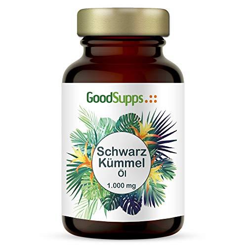 Schwarzkümmelöl Kapseln - 1000 mg pro Portion - zum Einführungspreis - 400 Kapseln (6,5 Monatsvorrat) - kaltgepresst, naturbelassen, mit Vitamin E - Hergestellt in Deutschland - GoodSupps®