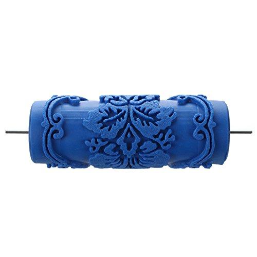 15cm Wand Dekoration Empaistic Blume Muster Malerei Walze für Dekoration Maschine - blau