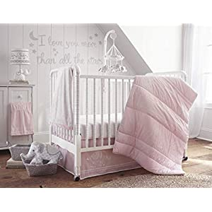 Levtex Home Baby Ely 5 Piece Crib Bedding Set, Pink