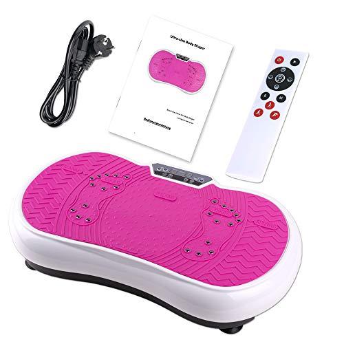 Coradoma Vibrationsplatte Vibrationsboard Fitness und Sport zum Abnehmen für Zuhause Power Plate Ultra Slim Rüttelplatte Training Vibrationsgerät Oszillation