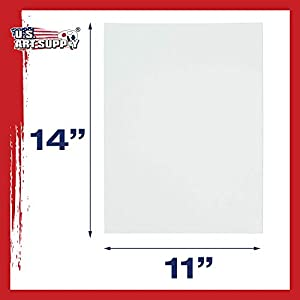 US Art Supply 11 X 14 inch Professional Artist Quality Acid Free Canvas Panels 12-Pack (1 Full Case of 12 Single Canvas Panels)