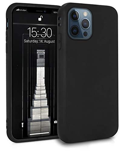 MyGadget Funda Slim para Apple iPhone 12 Pro MAX en Silicona TPU - Resistente Carcasa Antichoque Flexible & Protectora - Friendly Pocket Case - Negro