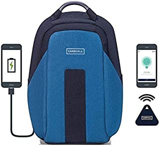 Carriall Vasco Smart Anti Theft Laptop Backpack with Bluetooth functionality (Blue)