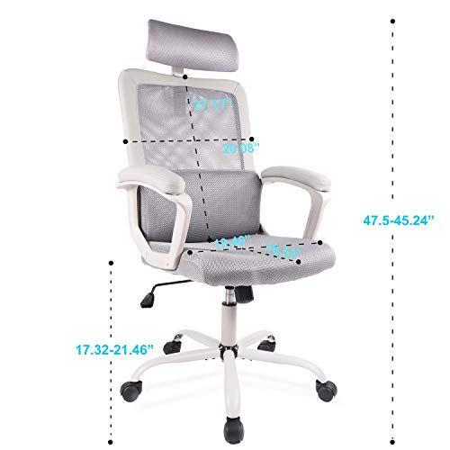 SmugDesk Ergonomic High Back Mesh Desk Office Chair